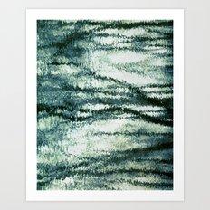 reflection of blues Art Print