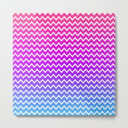 Rainbow Chevron Metal Print