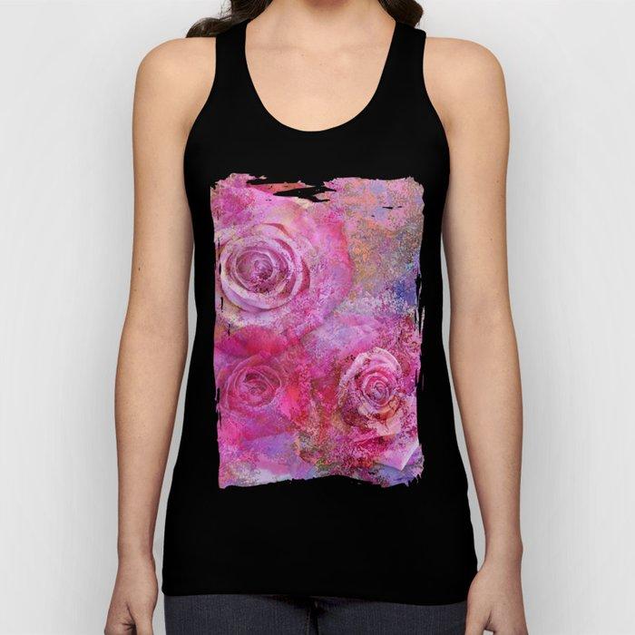 Artistic romantic pink roses Unisex Tank Top