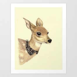 Fancy Deer Art Print