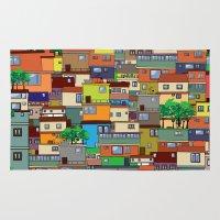 rio de janeiro Area & Throw Rugs featuring Favela, Rio de Janeiro by Rceeh