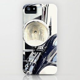 Blue classic vintage car iPhone Case