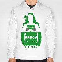 green arrow Hoodies featuring Green Arrow by Sport_Designs