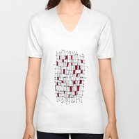 text V-neck T-shirts featuring text by Ivano Nazeri
