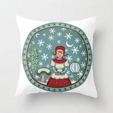 peaceful snow 2 Throw Pillow