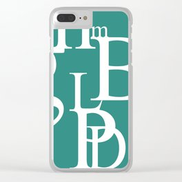 Abstract Typography Clear iPhone Case