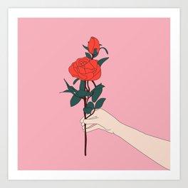 Brin de roses Art Print