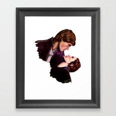 Star Wars, Han & Leia The Empire Strikes Back Framed Art Print