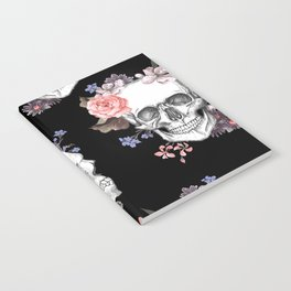 Day Of The Dead Floral Skulls Notebook