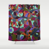 mosaic Shower Curtains featuring  Mosaic by Tony Vazquez
