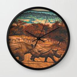 Rhino Family Wall Clock