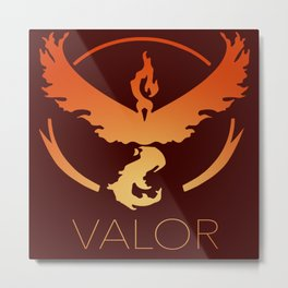 Team Valor GO Metal Print