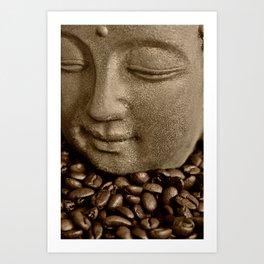 buddha coffee 2 Art Print
