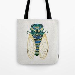Green & Gold Cicada Tote Bag