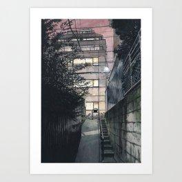 Tokyo at Night #05 Art Print