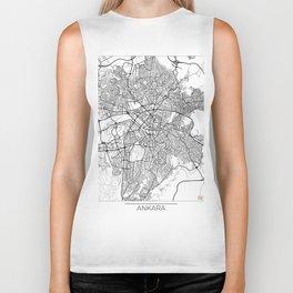 Ankara Map White Biker Tank