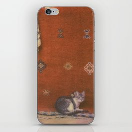 Cat on a Rug iPhone Skin