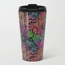 Rainbow Tie Dye Zentangle Travel Mug