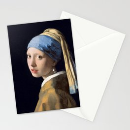 Girl with a Pearl Earring, 1665 Stationery Cards
