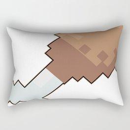 8 bit chicken Rectangular Pillow