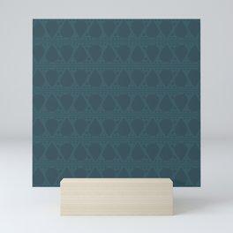 Abstract Tear Pattern - Dark Blue Mini Art Print