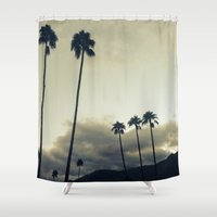 palm Shower Curtains featuring palm by cOnNymArshAuS