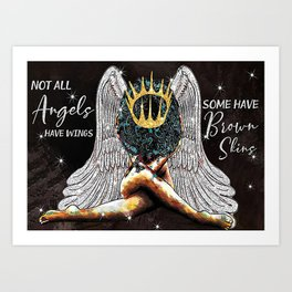 Poster Not All Angels Have Wings Art Print
