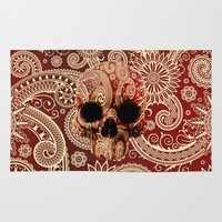 paisley Area & Throw Rugs featuring Paisley by Steve Mac