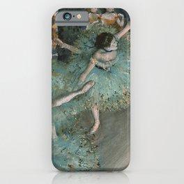 The Green Dancer - Edgar Degas iPhone Case