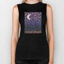 black cats, stars, & moon Biker Tank