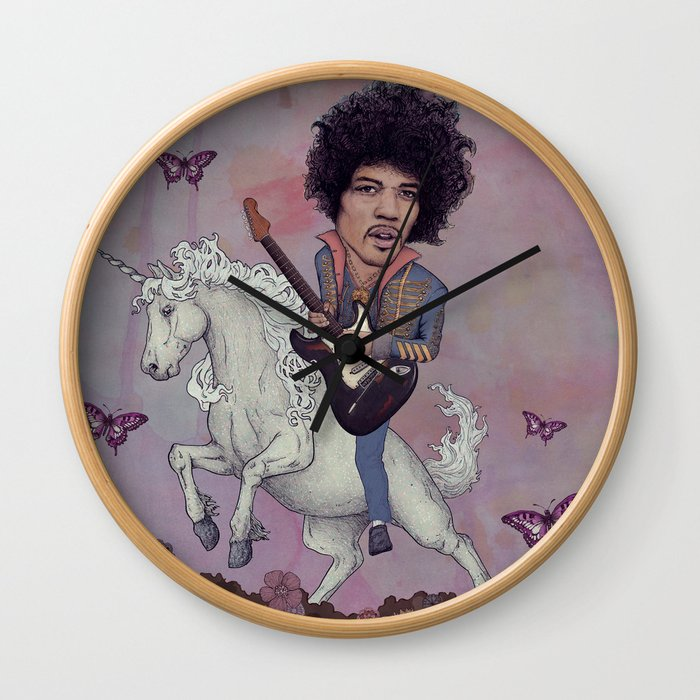Woke up This Morning and Found Myself Riding a Unicorn Wall Clock