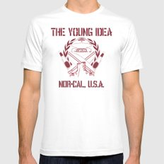 The Young Idea - NorCal Emblem Mens Fitted Tee MEDIUM White
