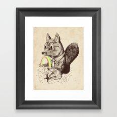 Strange Fox Framed Art Print