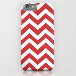 Madder Lake - pink color - Zigzag Chevron Pattern iPhone Case