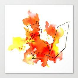 Origami Squirrel Canvas Print