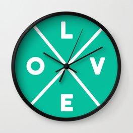 LOVE Criss-cross Wall Clock