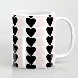 Hearts - black and nude pink palette Coffee Mug