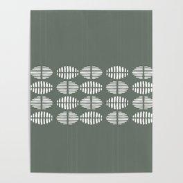 Grey White Pattern Design Poster
