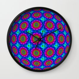 Flower  rainbow-colored Wall Clock