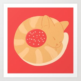 Jelly Biscuit Cat Art Print
