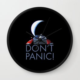 Starman Don't Panic Wall Clock