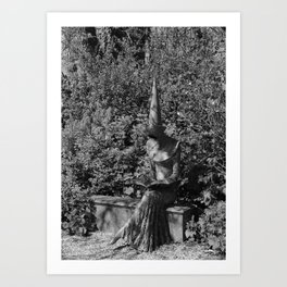 Reading Chaucer bw Art Print