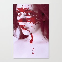 Blinded by Blood Canvas Print