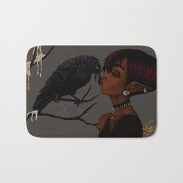 Kissing Crow Bath Mat