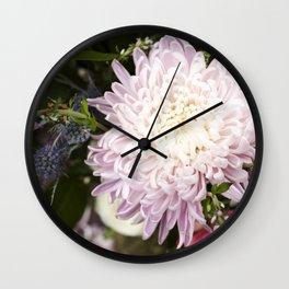 Dahlia in Bloom  |  Fresh Cut Flowers Wall Clock