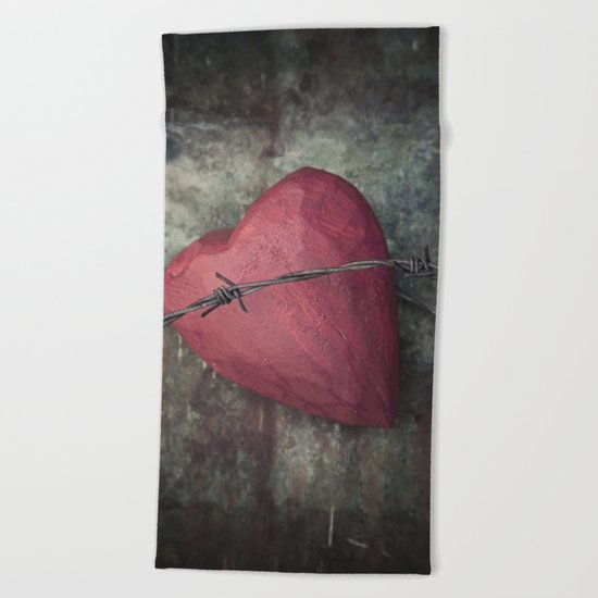 Trapped Heart III Beach Towel
