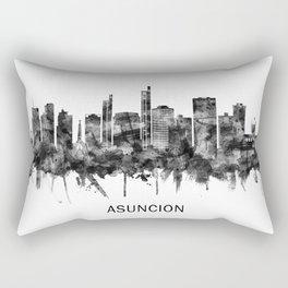 Asuncion Paraguay Skyline BW Rectangular Pillow