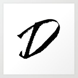 Letter D Ink Monogram Art Print