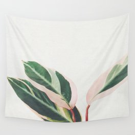 Pink Leaves III Wall Tapestry