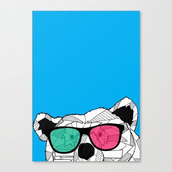 Short Bear Canvas Print